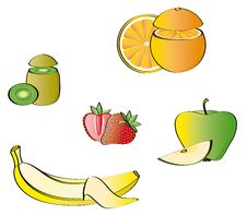 Some Fruits Stock Image