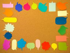 Free Colorful Balloons (Cork Board Background) Stock Photos - 52423333