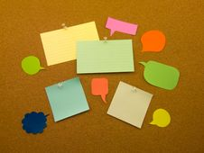 Free Colorful Balloons And Notes (Cork Board Background) Royalty Free Stock Photo - 52423355