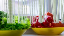 Some Vegetables On Windowsill Royalty Free Stock Image