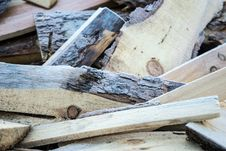 Free Firewood With Frost Stock Photography - 52489022