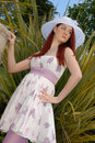 Free Cute Young Lady In Summer Dress Stock Images - 5250444