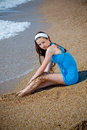 Free Nice Woman At Beach Stock Image - 5252281