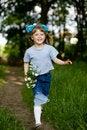 Free Girl Running In Park Stock Image - 5252411