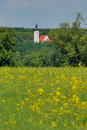 Free Church And Rape Field No.1 Stock Image - 5253731