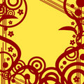 Free Floral Design Grunge Retro Background Royalty Free Stock Photos - 5254888