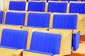 Free Cinema Chairs Blue Stock Image - 5255401