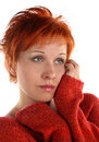 Free Sad Red Haired Woman Stock Images - 5256774