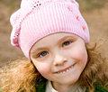 Free Girl In A Pink Cap Stock Image - 5259111