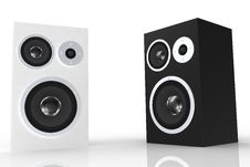 Free White And Black Loudspeaker Stock Photo - 5250340