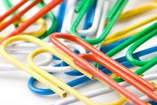 Free Colorful Paper Clips Royalty Free Stock Image - 5250506