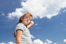 Free Anastassia Over Sky Stock Photography - 5250522