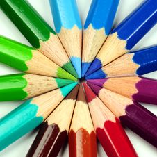 Free Colored Pencils Royalty Free Stock Image - 5250706