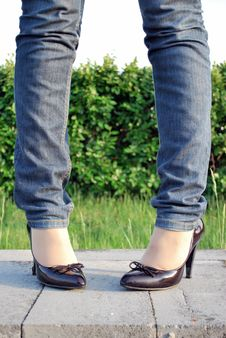 Free Woman S Legs, Shoes Stock Photos - 5251493