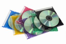Free SD/DVD Disks Royalty Free Stock Photo - 5252365