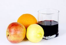 Free Fruit And Red Wine Stock Photo - 5252390