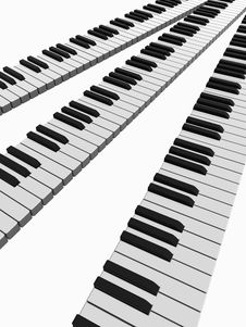 Free Piano Lines Royalty Free Stock Images - 5252669