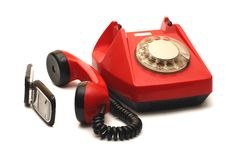 Free Red Telephone Royalty Free Stock Image - 5252746