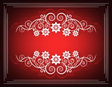 Free Frame Flowers Red And White Cl Royalty Free Stock Images - 5252979