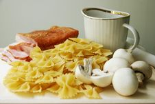 Ingredients For Pasta. Stock Image