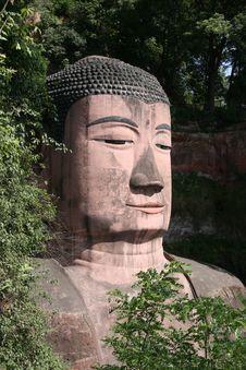 Giant Budda Leshan 6 Stock Images
