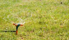 Free Grass Sprinkler Stock Photos - 5254333