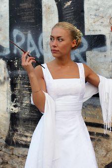 Free The Bride Smokes Stock Photography - 5254372