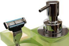 Free Razor And Dispenser On A White Background Stock Photo - 5254600