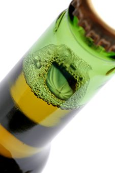Bottle Of Beer Closeup Stock Image