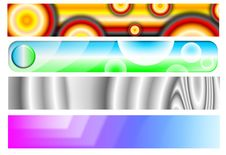Free Set Four Web Header Banners Royalty Free Stock Image - 5255066