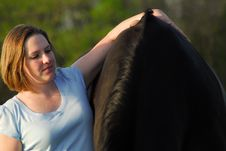Free Woman And Horse Stock Image - 5255161