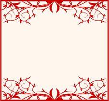 Free Design Floral Frame Stock Images - 5255174