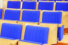 Free Cinema Chairs Blue Stock Image - 5255401