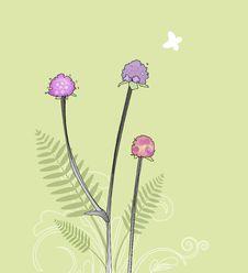 Flora Background Design Stock Photo