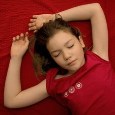 Free Sleeping Young Girl Stock Photo - 5256130