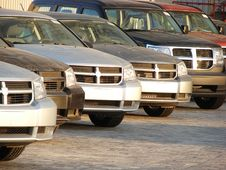 Free Row Of Modern Style Cars Stock Photo - 5256270
