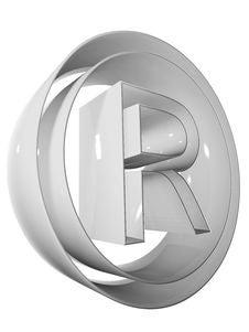 Free Symbol 3D Grey Stock Image - 5256281