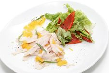 Free Chicken Breasts Carpaccio Stock Photography - 5256312