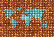 Free Mosaic World Map Royalty Free Stock Photo - 5256455