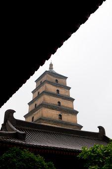 Big Wild Goose Pagoda (Dayan Ta) Stock Image