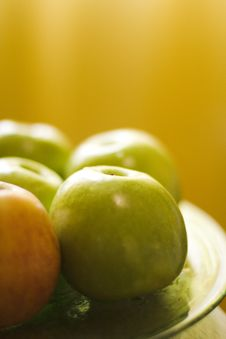 Free Green Apples Royalty Free Stock Images - 5256859