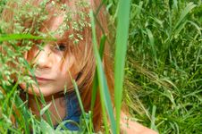 Free Young Nymph In Grass Royalty Free Stock Photos - 5256998