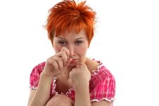 Free Crying Young Red Haired Woman Royalty Free Stock Photos - 5257028