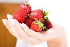 Free Beautiful Hand With Fresh Strawberry Stock Photos - 5257403