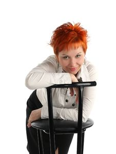 Free Business Woman And Chair Royalty Free Stock Photo - 5257625