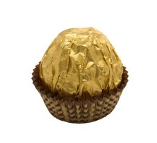 Free Chocolate Candies Are In The Gold Wrapping Royalty Free Stock Images - 5258059