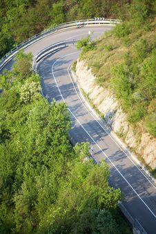 Free Mountain Road Cyclist Stock Photo - 5258130