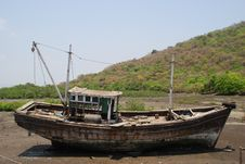 Mumbai Boat On Land Stock Photos