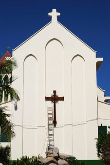 Free The Church With A Ladder Stock Image - 5258251