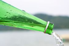 Free Water Flow From Bottle Stock Photo - 5259310